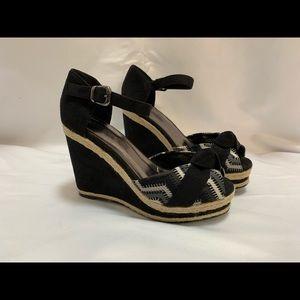 Lady Godiva platform wedge espadrilles sandals